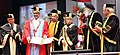 Pranab Mukherjee presented the Doctor of Science (Honoris Causa) to the Noble Laureate, Kailash Satyarthi at the 64th Convocation of Punjab University, in Chandigarh.jpg