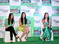 Preity, Malaika and Neha at 'Gillette PMS campaign' event 05.jpg