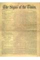 Première page de la revue Sign of the Times de 1884.png