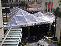 Preparing for the 83rd Annual Academy Awards - the red carpet center stage under plastic (expecting rain) (5474924859).jpg