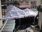 File:Preparing for the 83rd Annual Academy Awards - the red carpet center stage under plastic (expecting rain) (5474924859).jpg