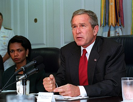 President Bush addressing the media at the Pentagon, September 17, 2001 President George W. Bush addresses the media at the Pentagon on Sept. 17, 2001.jpg