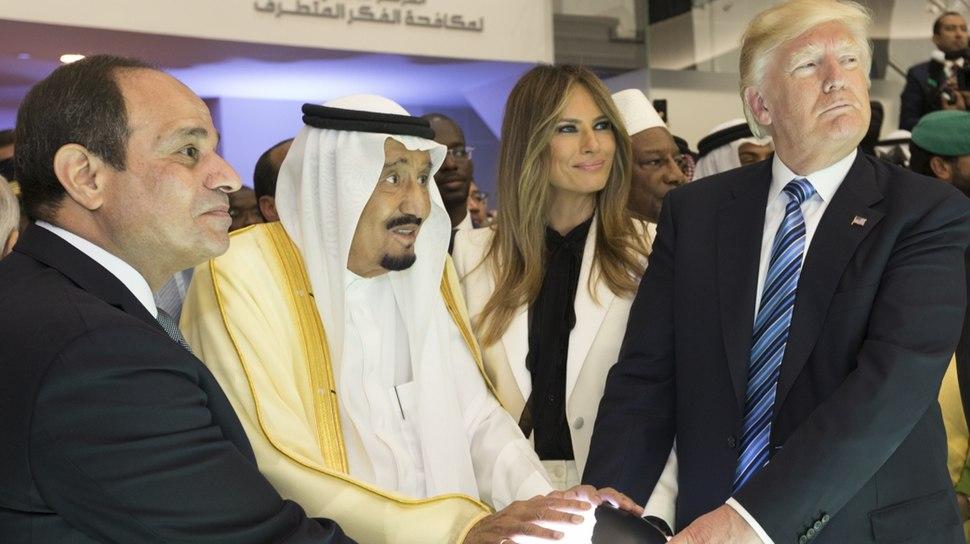 President Trump's Trip Abroad globe cropped