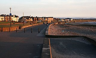 Prestwick town in Ayrshire, Scotland