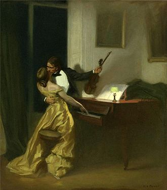 The Kreutzer Sonata - Tolstoy's novella inspired the 1901 painting Kreutzer Sonata by René François Xavier Prinet.