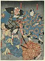 Print, Theatrical scene, probably from the Chushingura, ca. 1850 (CH 18388467).jpg
