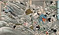 Print illustrating the tsunami that followed the 7.2 magnitude Meiji Sanriku earthquake of 1896 (13720269294) (cropped).jpg