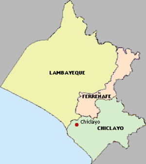 Lambayeque Region - Map of the Lambayeque region showing its provinces