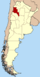 Lage der Provinz Catamarca