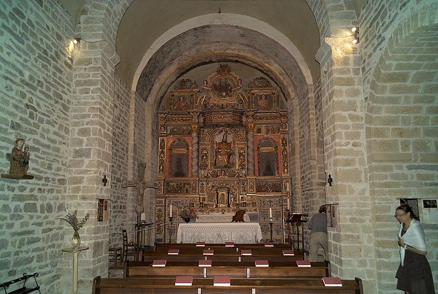 Retable du maître-autel, Chapelle de la Trinité, Prunet-et-Belpuig (Pyrénées-Orientales, Languedoc-Roussillon, France)