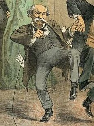 Isham G. Harris - Caricature of Harris that appeared in Puck magazine in 1886