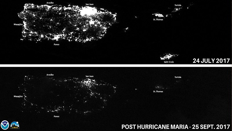 Archivo:Puerto Rico at night before and after Hurricane Maria.jpg
