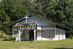 Kota Belud District - Image: Purak Ogis Sabah Catholic Church St William 02