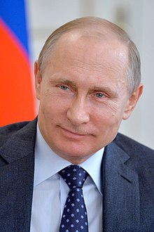 Putin with flag of Russiajpg