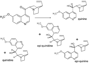 Quinine total synthesis - Final step in Rabe Kindler synthesis: reduction