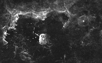 Pistol Star - Quintuplet cluster region, centered on the Pistol Star and its surrounding nebula