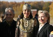 RIAN archive 477235 U.S. Secretary of State Hillary Clinton visits Tatarstan