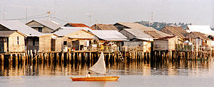 Riau Islands - Village of Senggarang, an Orang laut village near Tanjung Pinang.