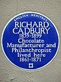 RICHARD CADBURY 1835-1899 Chocolate Manufacturer and Philanthropist lived here 1861-1871.jpg