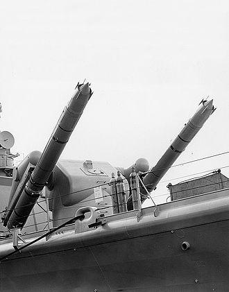 Albany-class cruiser - Image: RIM 8 Talos missiles aboard USS Columbus (CG 12), in 1962 (NH 98462)