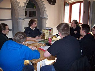 The Dark Eye - The Dark Eye role-playing gamers at Convention Burg-Con in Berlin, 2009
