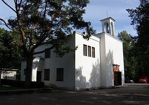 Rahumäe cemetery - Image: Rahumäe kalmistu Pühavaimu koguduse kabel 2