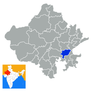 Bundi district -  Location in Rajasthan