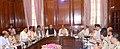 Rajnath Singh reviews the LWE situation in Chhattisgarh, in New Delhi. The Chief Minister of Chhattisgarh, Dr. Raman Singh, the Minister of State for Home Affairs, Shri Kiren Rijiju.jpg