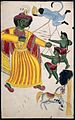 Rama fighting with his sons with the help of Hanuman over a Wellcome L0022504.jpg
