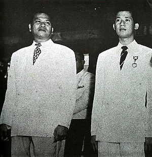 Benigno Aquino Jr. - Benigno Aquino Jr. (right) with Ramon Magsaysay in August 1951.