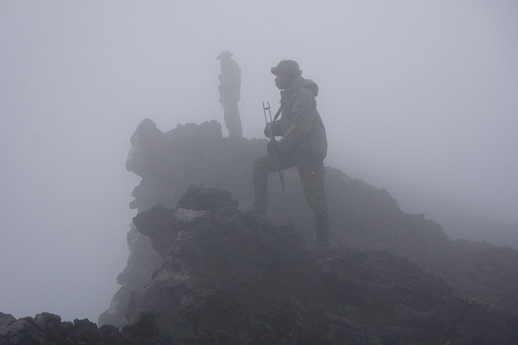 photo of rangers in Virunga