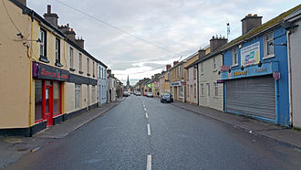 Rathdowney - View of Main Street,Rathdowney, County Laois, Ireland