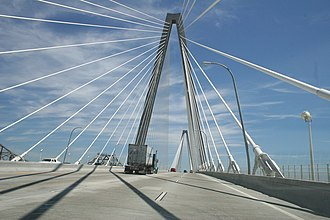 Arthur Ravenel Jr. Bridge - Road deck of the Arthur Ravenel Jr. Bridge.