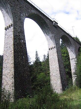 Höllentalbahn (Black Forest) - Image: Ravennaviadukt 8260