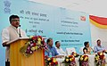 Ravi Shankar Prasad addressing at the dedication of the e-Commerce Centre to the Nation and launch of India Post Mobile App, in New Delhi. The Secretary (Posts), Ms. Kavery Banerjee and other dignitaries are also seen.jpg