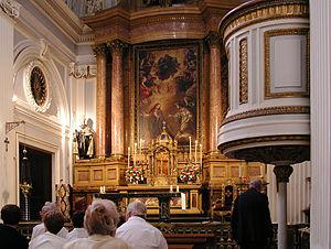 Royal Monastery of La Encarnación, Madrid - High altar.