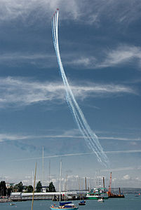 Red Arrows display at Portsmouth in July 2008 10.jpg