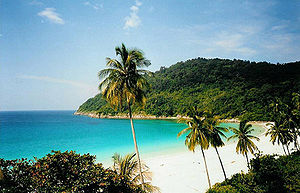 Geography of Malaysia - A beach on Redang Island in the South China Sea.