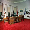 Redecorated Oval Office with President Kennedy's effects.jpg