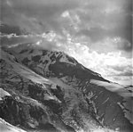 Redoubt Volcano, mountain glacier with icefall, September 4, 1977 (GLACIERS 6757).jpg