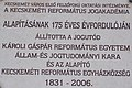 Reformed Academy of Law plaque, Kálvin Square, Kecskemét 2016 Hungary.jpg