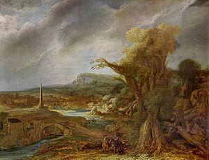 Landscape with Obelisk