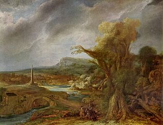 <i>Landscape with Obelisk</i> stolen painting by Govert Flinck