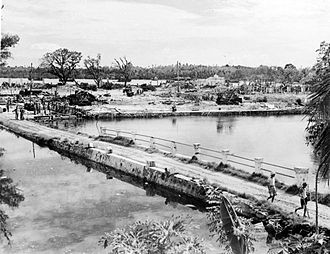Battle of Labuan - The remnants of Victoria after it was attacked by Allied aircraft and warships