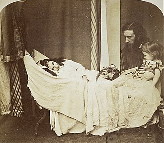 George MacDonald - George MacDonald with son Ronald (right) and daughter Mary (left) in 1864. Photograph by Lewis Carroll.