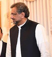 Rex Tillerson and Shahid Khaqan Abbasi in Islamabad, Pakistan - 2017 (37852996466) (cropped)