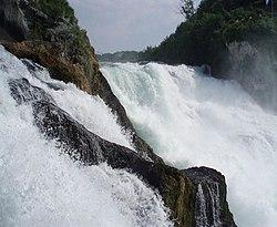 The Rhine Falls in Schaffhausen.