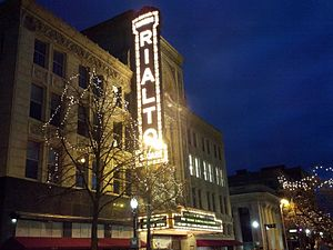 Joliet, Illinois - The Rialto Square Theatre in downtown Joliet