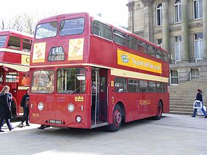 Ribble Motor Services - Preserved Leyland Atlantean in Bolton Town Centre in May 2009