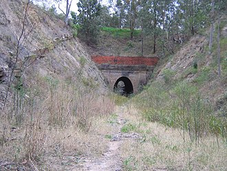 Richmond Vale railway line - Image: Richmond Vale Rail Tunnel 3
